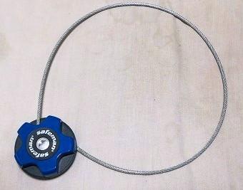 ロードバイクのワイヤー錠
